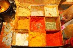 印第安香料配件箱 库存照片