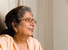 印第安高级妇女 库存图片