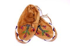 印第安鹿皮鞋 库存图片