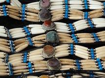 印第安jewelery 库存照片