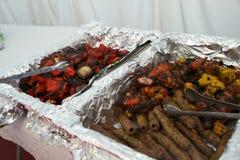 印第安kebabs 免版税库存照片