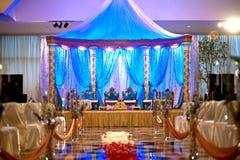 印第安mandap婚礼 免版税库存图片