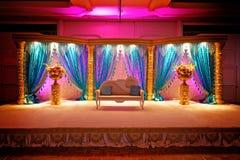 印第安mandap婚礼 图库摄影