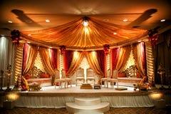 印第安mandap婚礼 库存照片