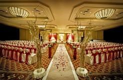 印第安mandap婚礼 库存图片