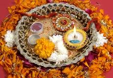 印第安rakhi传统 免版税库存图片