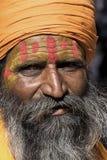 印第安sadhu (圣洁者) Jaisalmer,拉贾斯坦,印度 免版税图库摄影