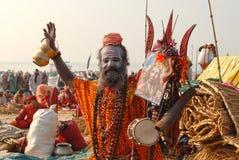 印第安sadhu 免版税图库摄影