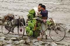 印第安villagelife 库存照片