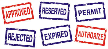 印花税向量 免版税库存图片
