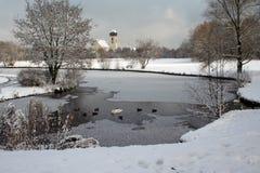 印象冬天 库存图片