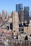 印象曼哈顿中间地区纵向 免版税图库摄影