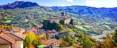 印象深刻的巴尔迪村庄,伊米莉亚罗马甘,意大利 库存图片