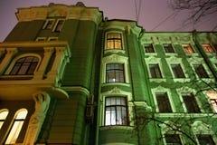 印象深刻的房子Kolobov名义上过去所有者在圣彼德堡Petrogradsky区  库存图片