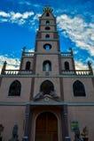 印象深刻的教会和惊人的日落,宿务,菲律宾 库存图片