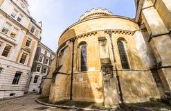 印象深刻的寺庙教会在伦敦市 免版税库存照片