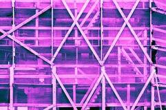 印象深刻的桃红色蓝色紫色绿松石蓝蓝紫罗兰色框架 免版税库存照片