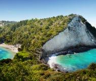 印象深刻的海岛海岸,石灰石峭壁 库存图片