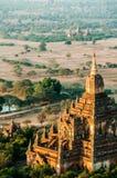 印象深刻的石寺庙在Bagan缅甸 库存照片