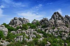 印象深刻的石灰岩地区常见的地形风景 图库摄影