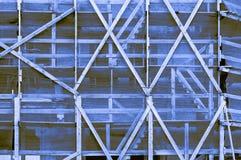 印象深刻的蓝色淡黄色褐色靛蓝框架在a外面 库存图片