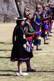 印锑秘鲁货币单位Raymi仪式秘鲁南美印加人服装 库存图片