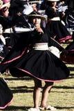 印锑秘鲁货币单位Raymi仪式秘鲁南美洲印加人服装妇女 库存照片