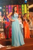 危地马拉小姐穿着国家服装的 库存照片