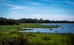 危地马拉山的湖 免版税库存图片