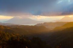 危地马拉的武尔卡诺岛高地 图库摄影