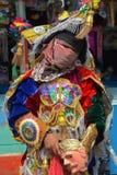 危地马拉节日被掩没的舞蹈家 库存图片