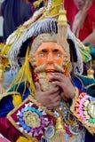 危地马拉节日被掩没的舞蹈家 库存照片