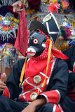 危地马拉节日被掩没的舞蹈家 免版税库存照片