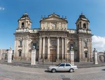 危地马拉- 2017年11月21日:危地马拉大教堂在危地马拉城 图库摄影