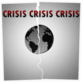 危机世界 库存图片
