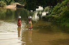 危机印度水 免版税库存照片