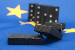 危机多米诺作用财务的欧洲 库存照片