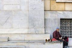 危机希腊 库存照片