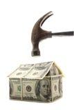 危机房屋贷款 免版税图库摄影