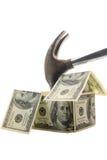 危机房屋贷款 库存图片