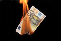 危机欧元 免版税库存照片