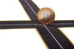 危机欧元 免版税库存图片