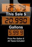危机汽油价格 免版税库存图片