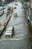 危机洪水泰国 免版税库存图片