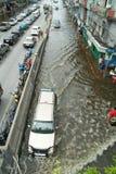 危机洪水泰国 库存照片
