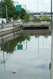 危机洪水泰国 免版税库存照片
