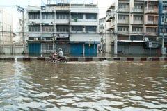 危机洪水泰国 库存图片