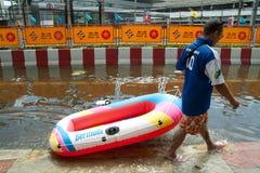 危机洪水泰国 免版税图库摄影