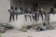 危机的果子在岗位竞选象牙海岸的 库存图片