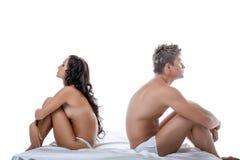 危机的概念在关系的恋人之间 免版税库存照片